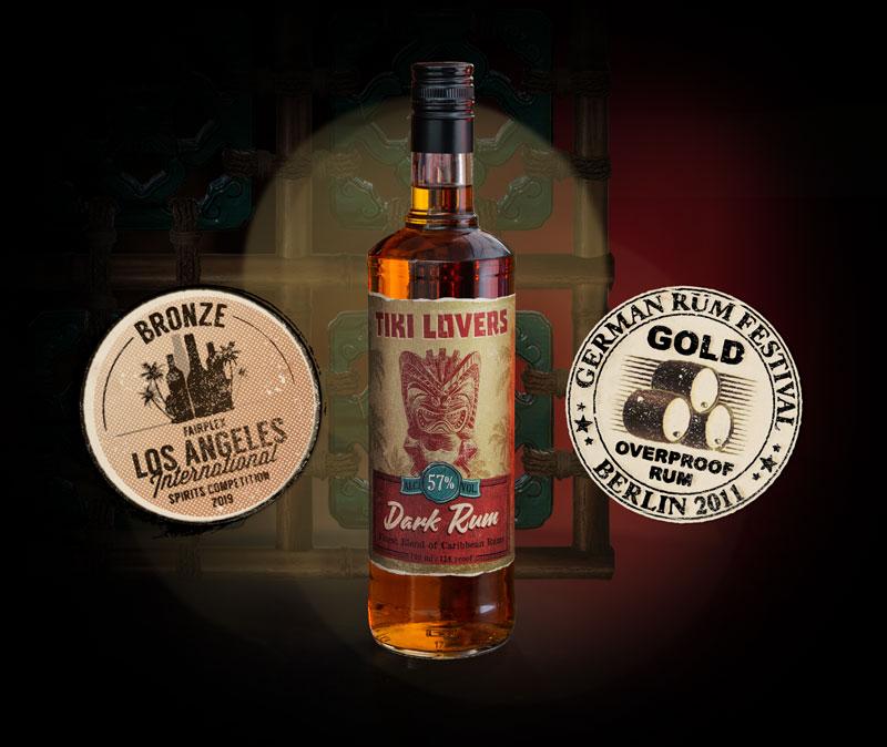 Tiki Lovers Bottle Dark Rum